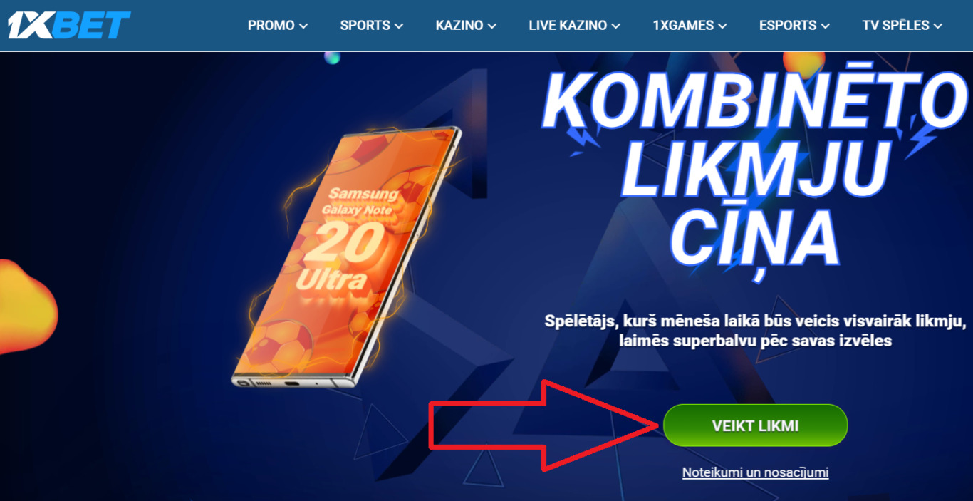 Sporta Bettings uzņēmumā 1xBet Latvija