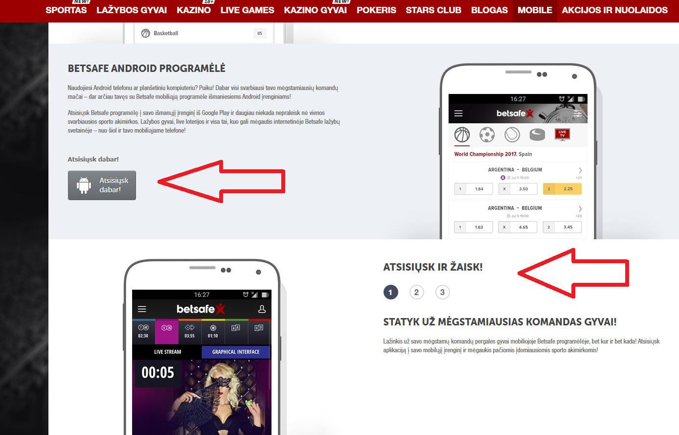 Kādas priekšrocības var iegūt, izmantojot Betsafe mobile versiju