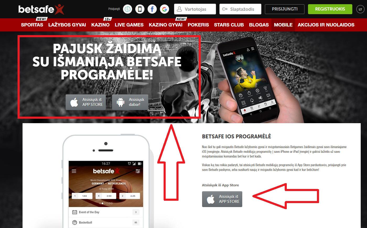 Bonusi un akcijas lieliskā Betsafe Mobile Android (Sportsbook) izstrādē